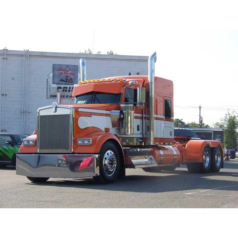 Flat Windshield Visors Big Rig Chrome Shop Semi Truck Chrome Shop