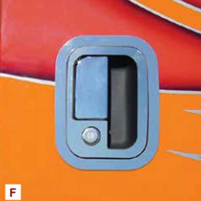 Peterbilt door latch trims roadworks sale