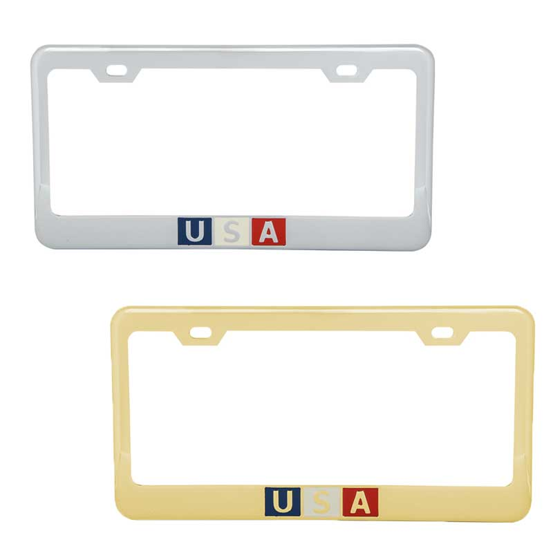 Grand General 60443 Brass Plated License Plate Frame with 2 Holes