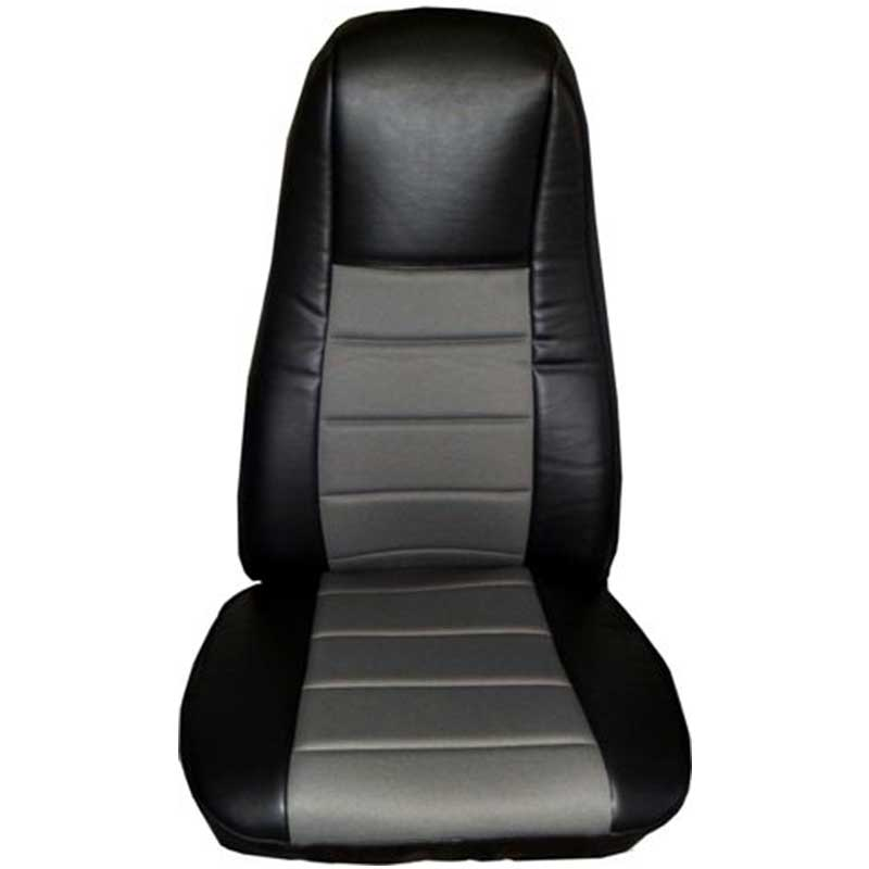 RMI 65311 Universal Black With Grey Fabric Vinyl Seat Cover