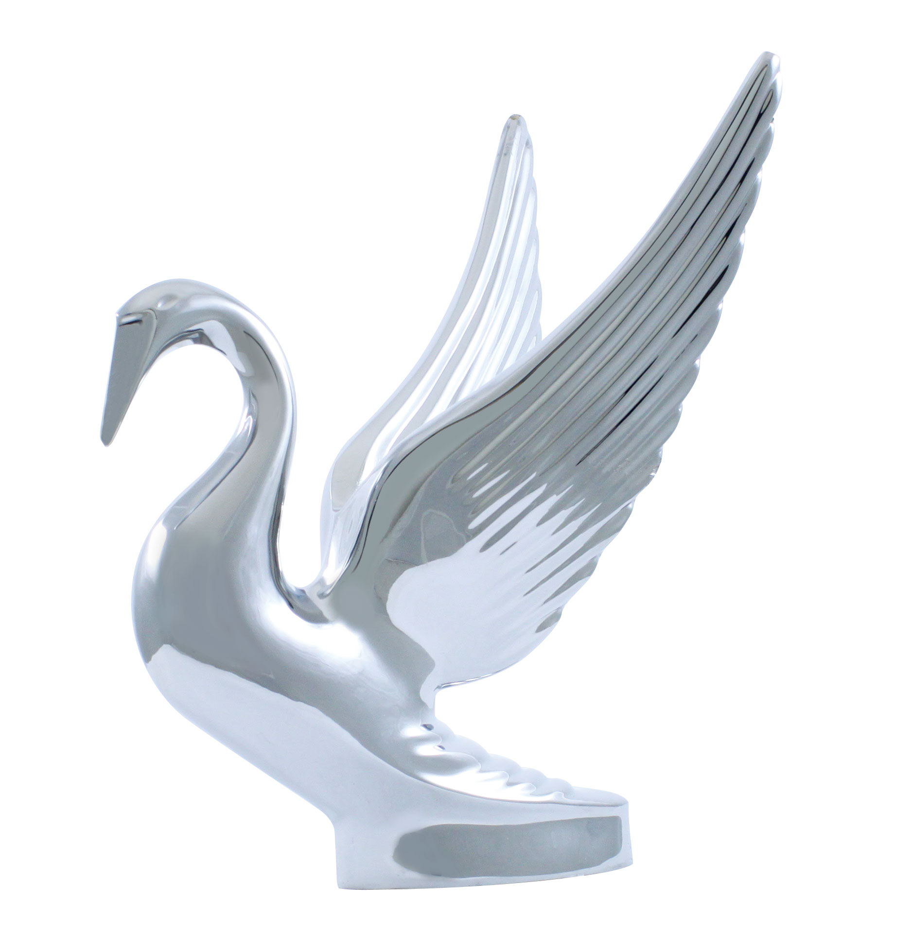 Wing hood ornament - Add To Cart Up72001 Chrome Swan Hood Ornament