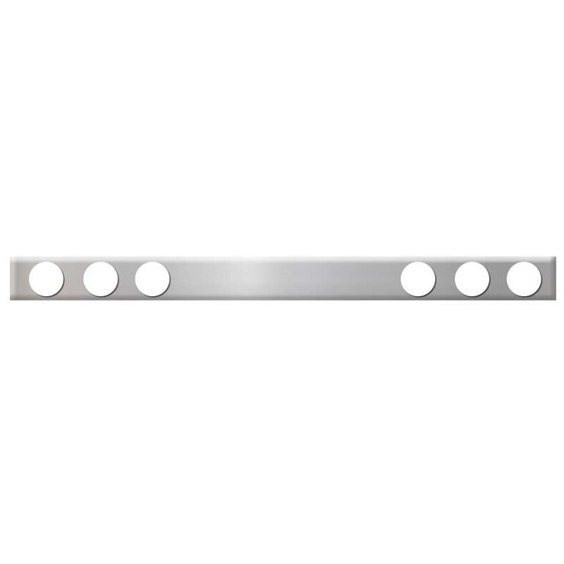 Grand General 24 X 6-1//4 Inches Chrome Bottom Plate w// 3 Studs Long Horn Style