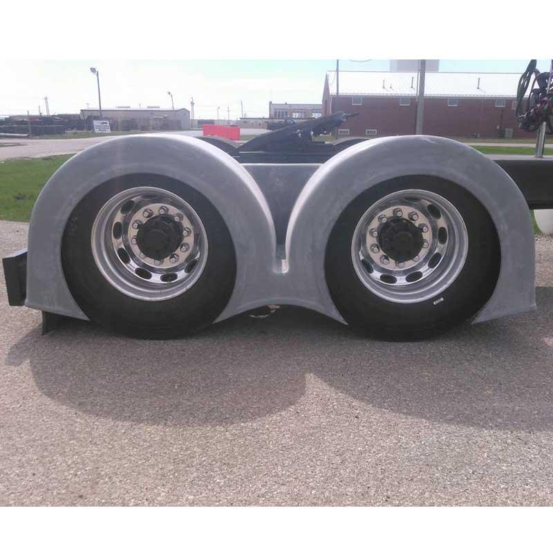 Bad ass custom fenders big rig chrome shop semi truck - Bac a semis ...