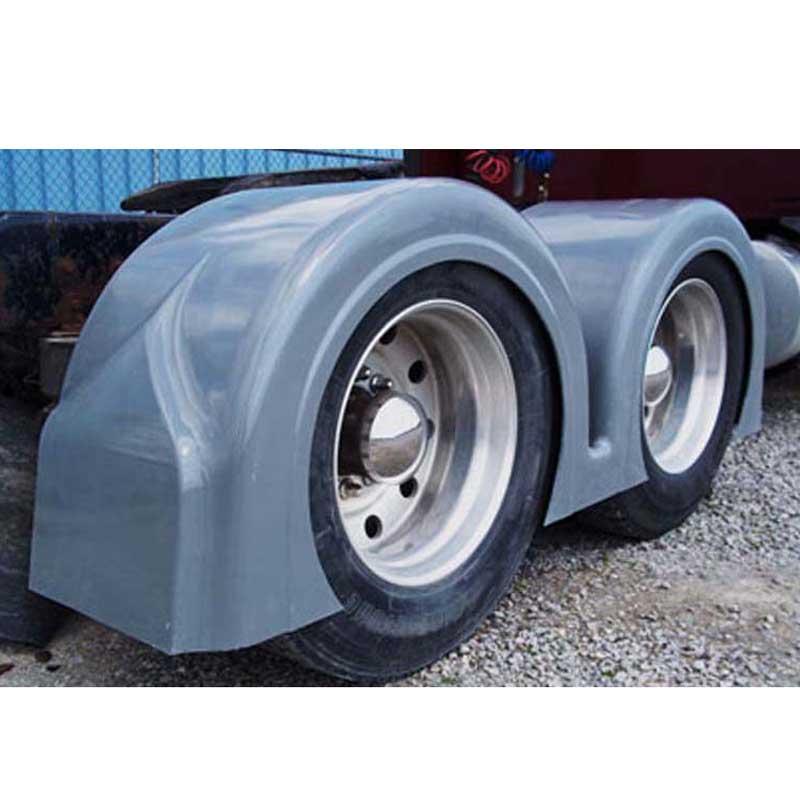 Big Rig Fenders : Fiberglass full fenders big rig chrome shop semi truck