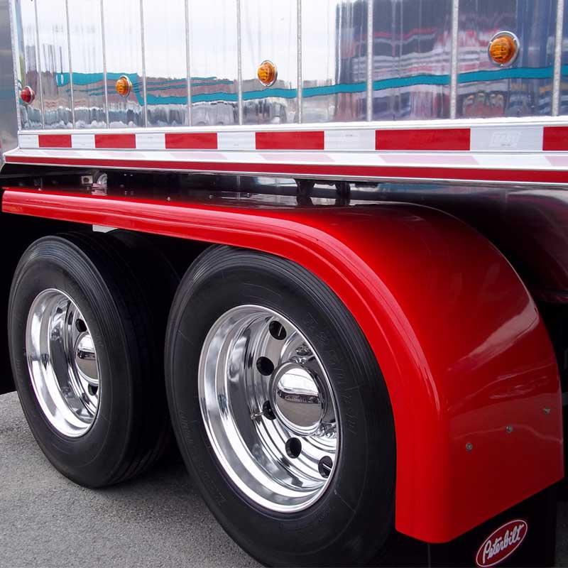 Fiberglass full fenders big rig chrome shop semi truck - Bac a semis ...