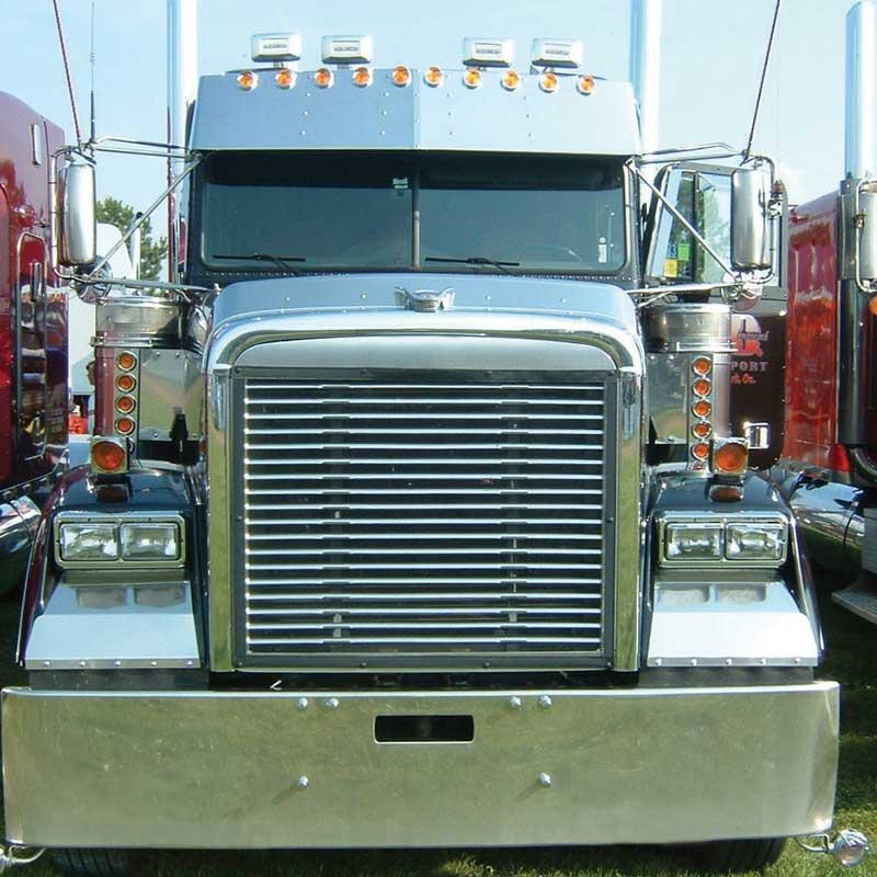 Freightliner Classic Visors Big Rig Chrome Shop - Semi Truck Chrome