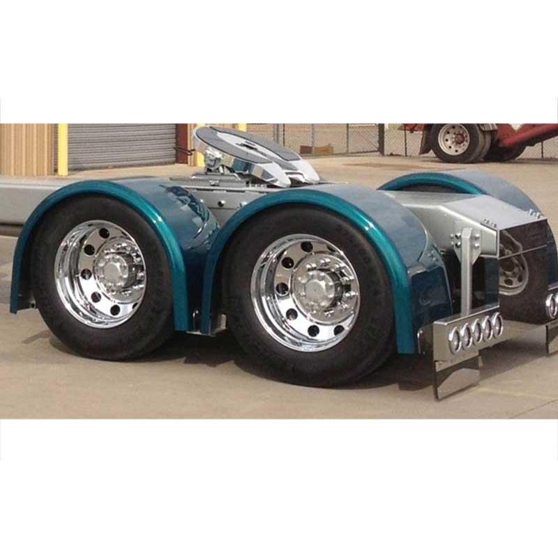 Big Rig Fenders : Fiberglass single axle fenders big rig chrome shop semi