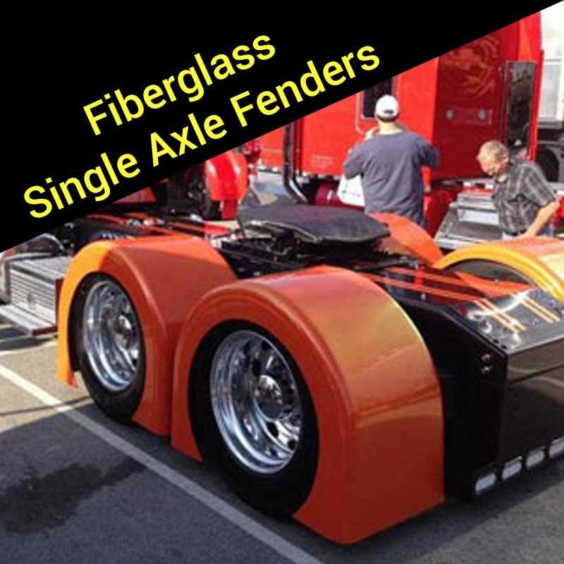 Big Truck Fiberglass Fenders : Fiberglass fenders big rig chrome shop semi truck