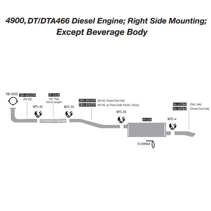International OEM Exhaust Layouts Big Rig Chrome Shop - Semi