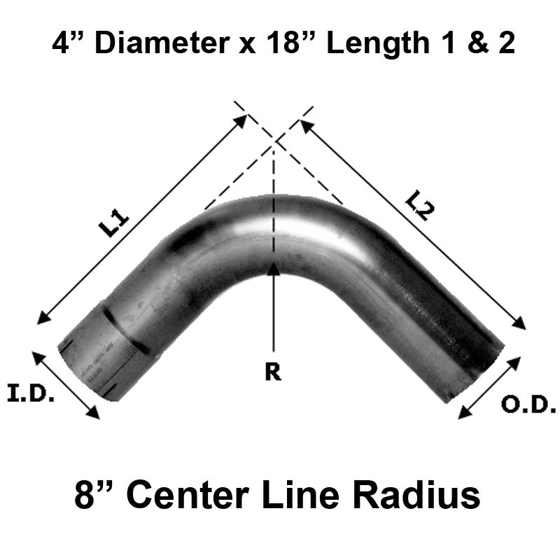 Heavy Duty Manufacturing 11-400-45A Aluminized Elbow 45 Degree , One End OD, One End ID