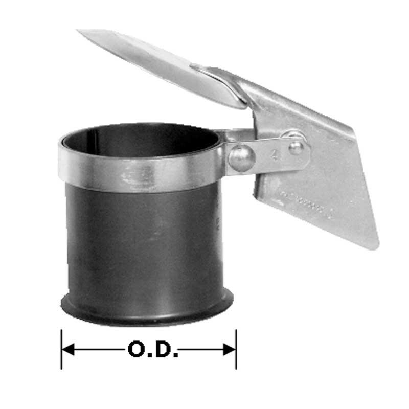 3 Diameter Heavy Duty Manufacturing 9-300 Zinc Plated Rain Cap 3 Diameter