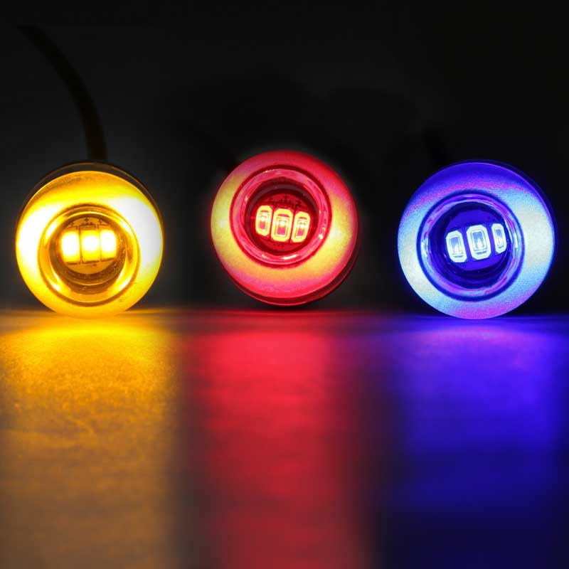 Small Round LED Marker Lights Big Rig Chrome Shop - Semi Truck ...