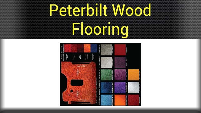 Peterbilt flooring big rig chrome shop semi truck chrome for Wood floor for 379 peterbilt
