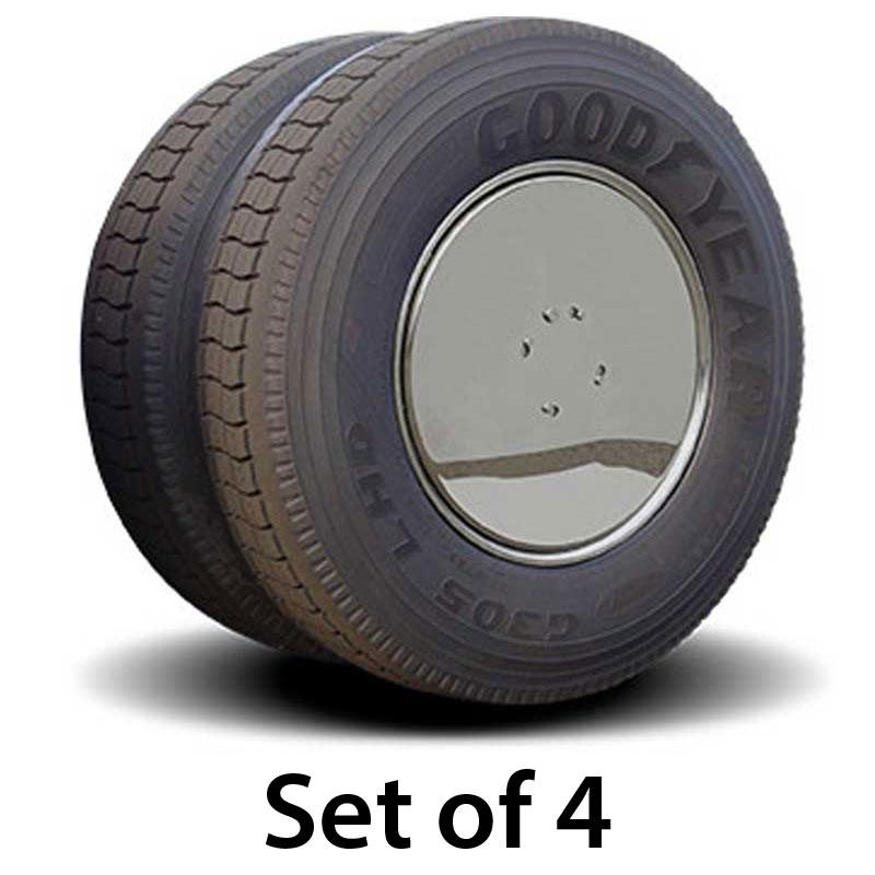 Semi Trailer Covers : Aero wheel covers big rig chrome shop semi truck