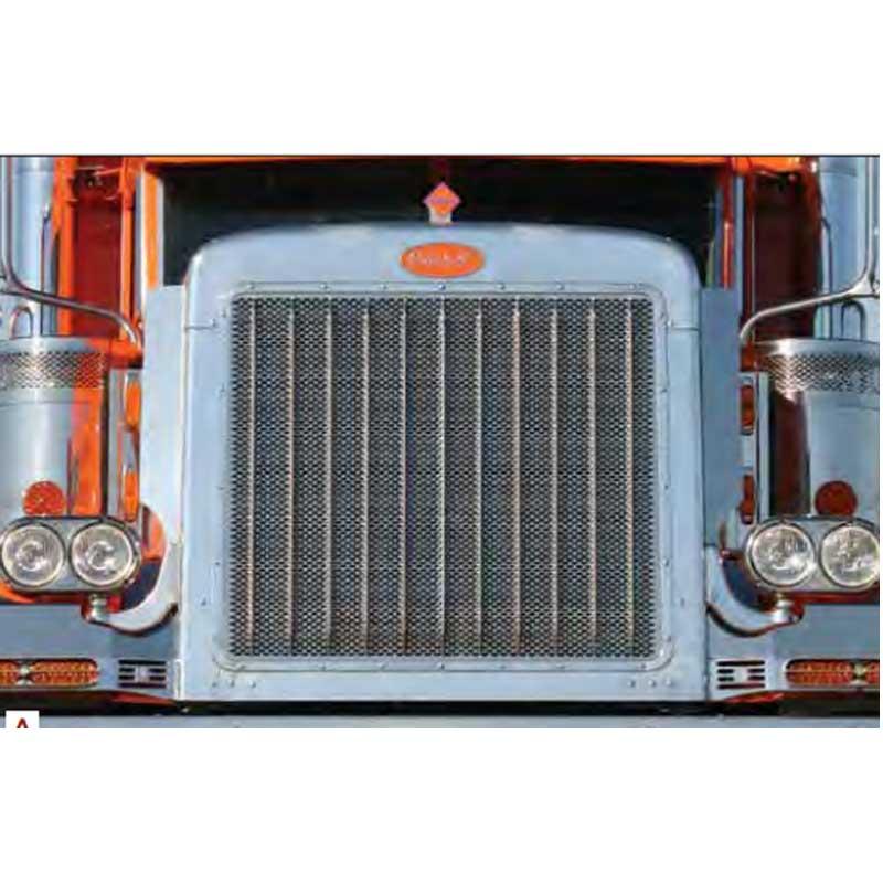 Semi Tractor Grills : Peterbilt  grilles big rig chrome shop semi