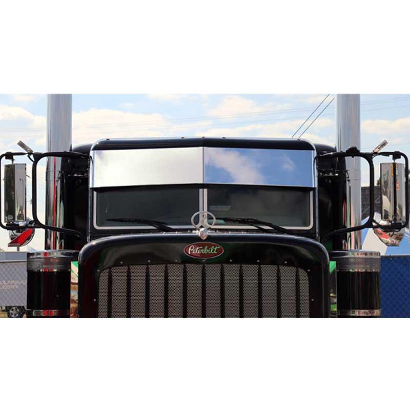 Peterbilt 2005 and Newer Visors Big Rig Chrome Shop - Semi Truck ... f7e59e94a0a