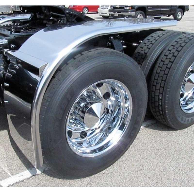 Half Fenders For Trucks : Stainless half fenders big rig chrome shop semi truck