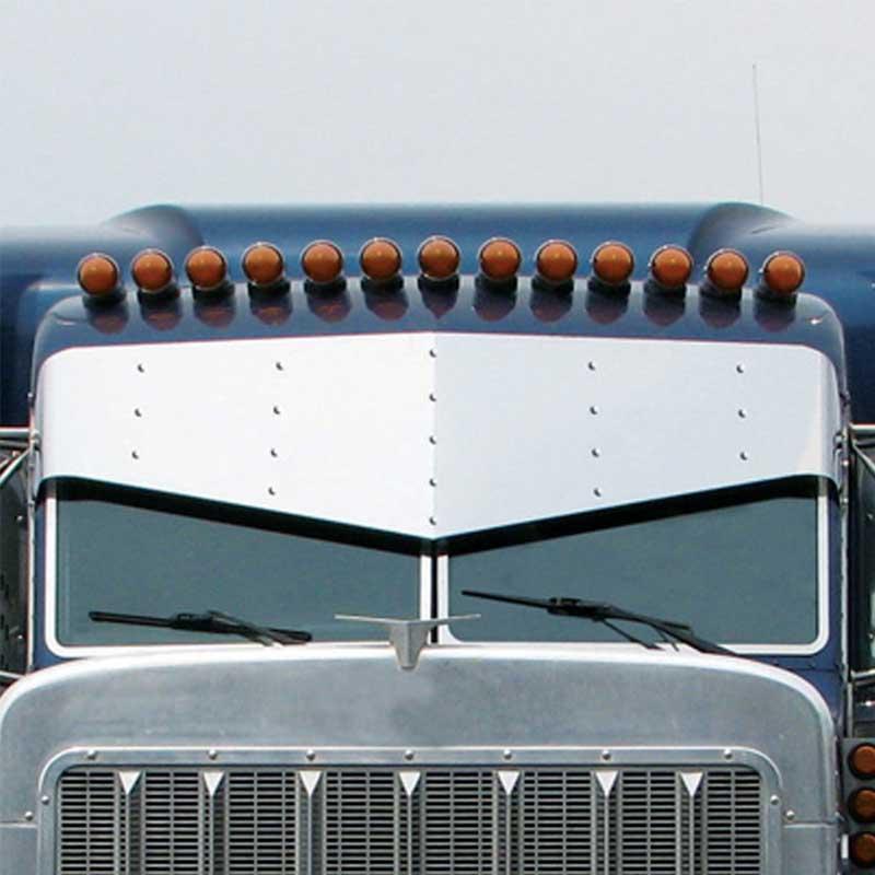 Peterbilt Blind Mount Visors Big Rig Chrome Shop - Semi Truck Chrome ... a682388b1c0