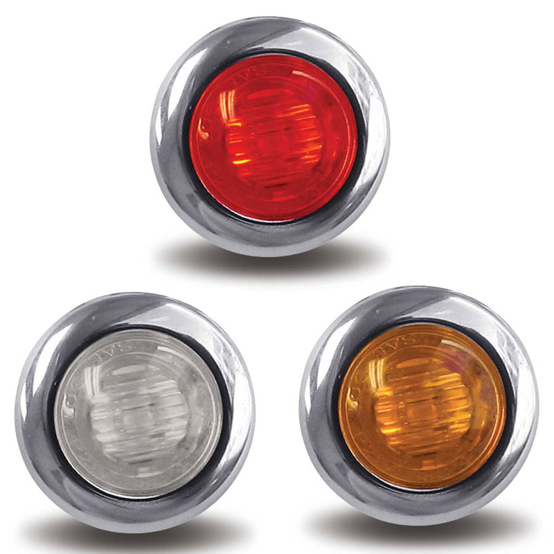 Small Round LED Marker Lights Big Rig Chrome Shop - Semi Truck ...