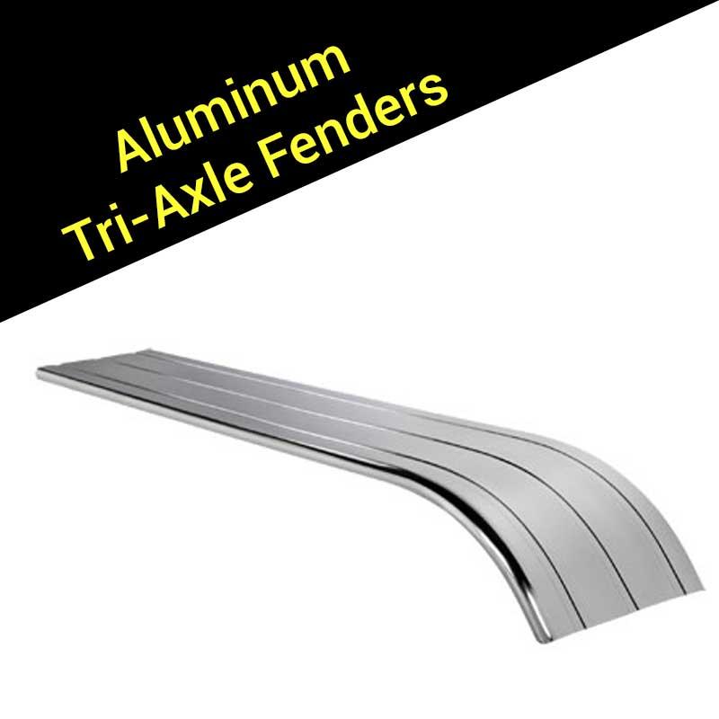 Half Tri Axle Fenders : Aluminum fenders big rig chrome shop semi truck