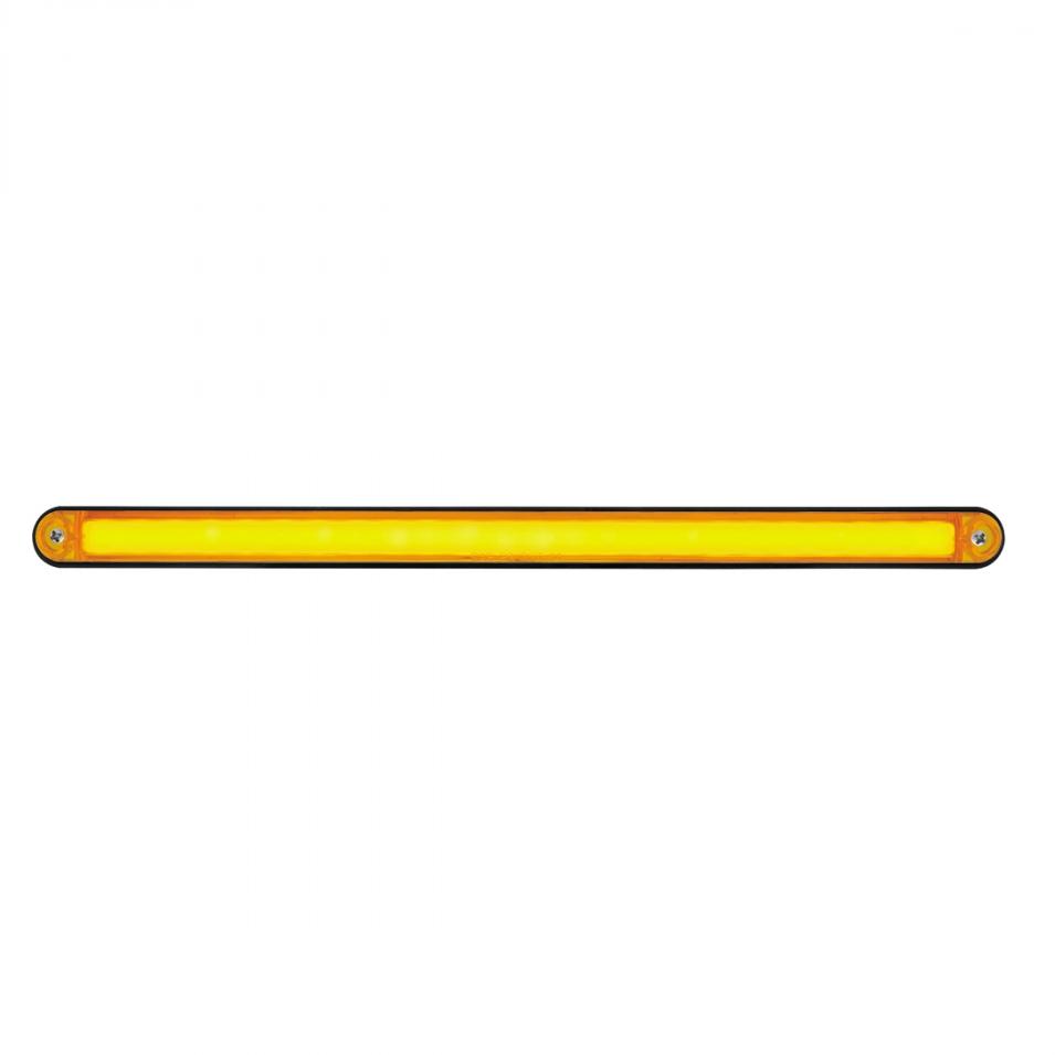 United Pacific 36492 24 LED 12 GLO Light Bar with Black Housing Amber LED//Amber Lens