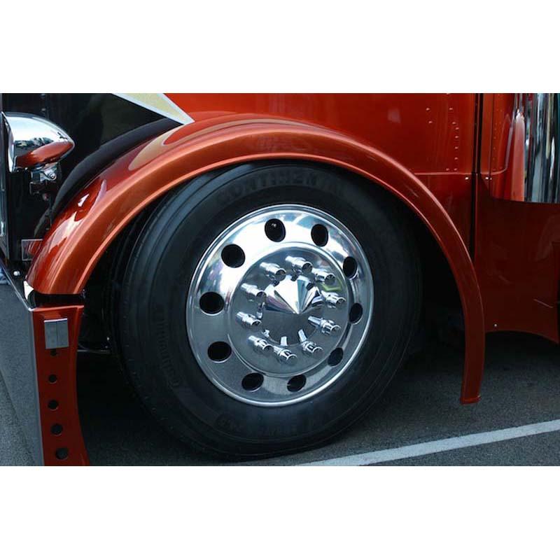Semi Fender Lights : Peterbilt front fenders big rig chrome shop semi truck