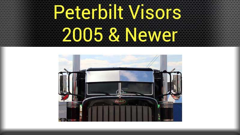 Peterbilt Visors Big Rig Chrome Shop - Semi Truck Chrome Shop, Truck