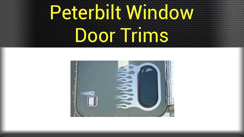 Peterbilt cab door accessories big rig chrome shop semi truck chrome