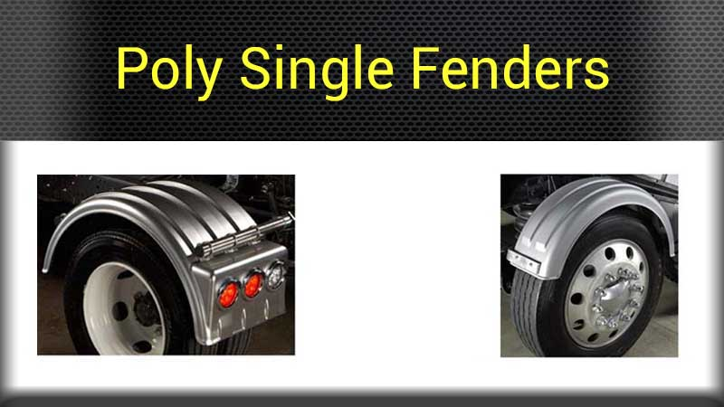 Big Truck Fenders Plastic : Poly fenders big rig chrome shop semi truck