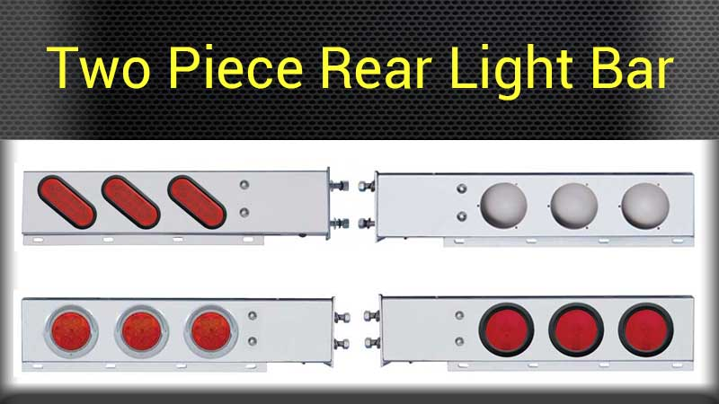 Mud flap rear light bars big rig chrome shop semi truck chrome two piece rear light bars mozeypictures Image collections