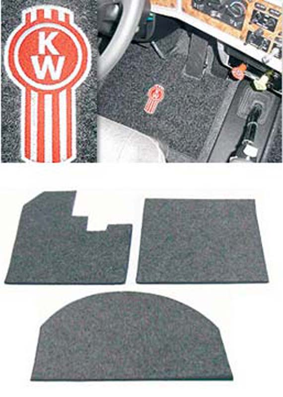 Big rig chrome shop semi truck chrome shop truck for 1 piece floor mats trucks