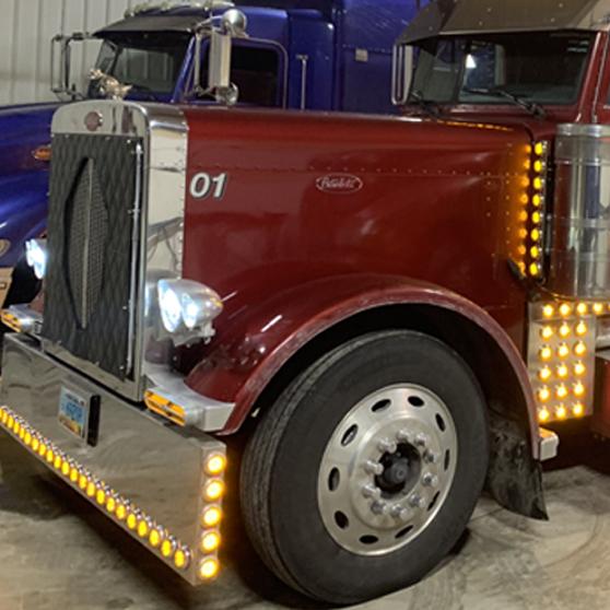 Peterbilt Hood Trims Big Rig Chrome Shop - Semi Truck Chrome