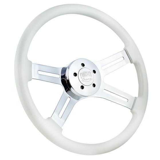 Steering Wheel /& Hub Kit 18 Chrome Dual Classic PolyUrethane Kenworth more