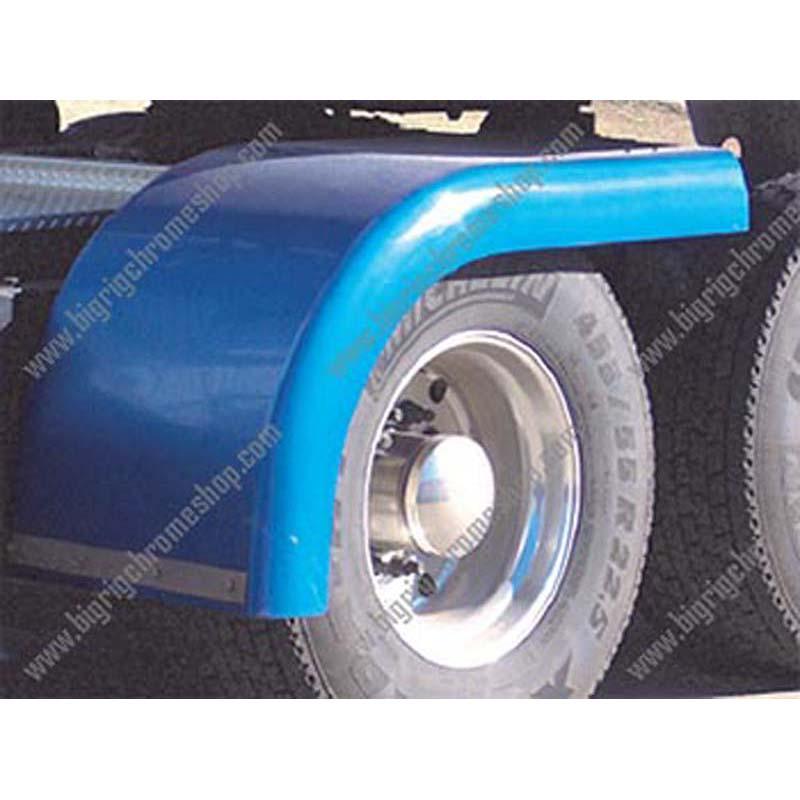 Big Rig Fenders : Fiberglass half or quarter fenders big rig chrome shop
