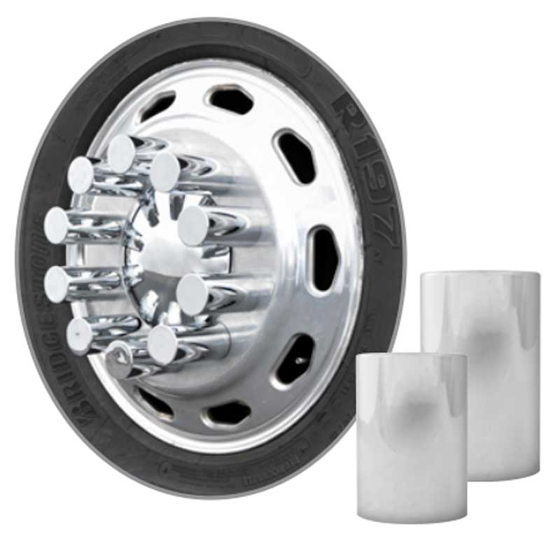 Semi Chrome Wheel Covers : Big rig chrome shop semi truck