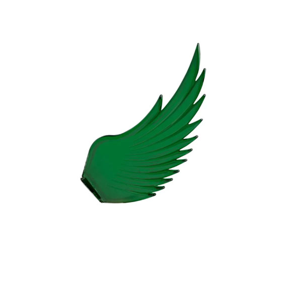 Windrider Hood Ornament Replacement Wings GREEN