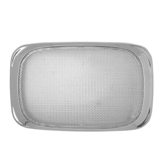 """Pair of Rectangular Chrome 7/"""" x 4 7//8/"""" Semi Truck Speaker Covers for Peterbilt"""