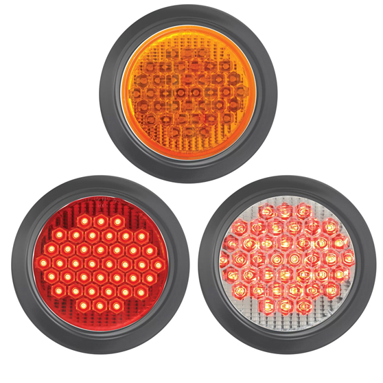 Grand General Oval Highway Red//Red 10 LED Sealed Light