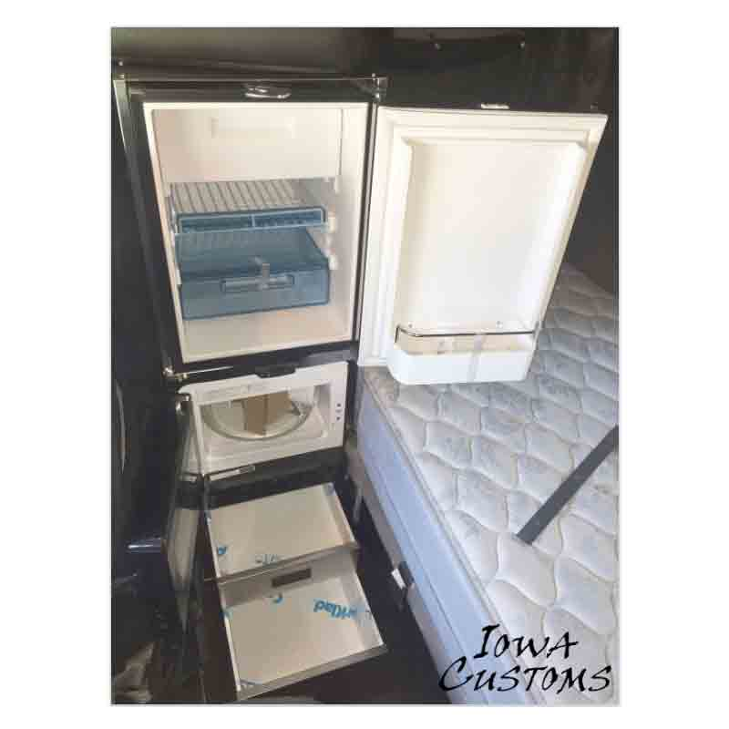 Ic 284006 15 Refrigerator Kit With Microwave And 2 Drawer Storage System Gloss Black 1 974 99