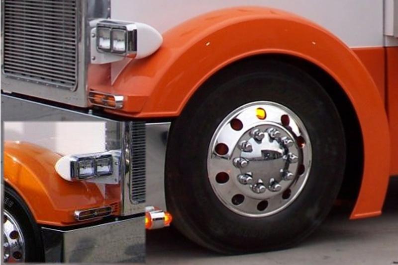 Peterbilt Front Fenders Big Rig Chrome Shop - Semi Truck