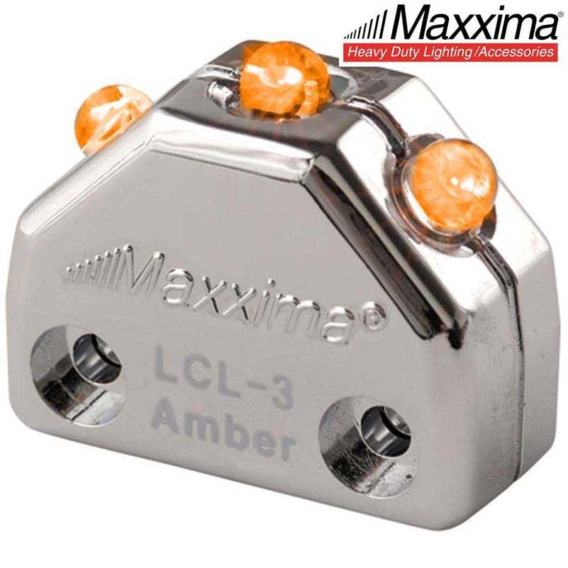 Maxxima LCL-3R 3 LED Red Chrome Micro Interior Courtesy Light