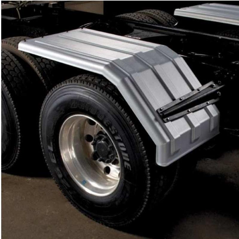 Half Fenders For Trucks : Poly half fenders big rig chrome shop semi truck