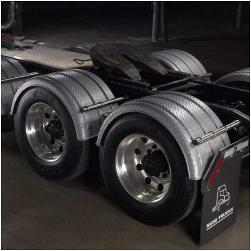 Big Truck Fenders Plastic : Poly single fenders big rig chrome shop semi truck