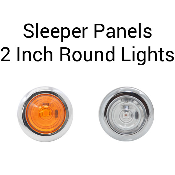 Kenworth T660 38 Inch Sleeper Panels With 5 LED Bullet Lights And Without  Extension