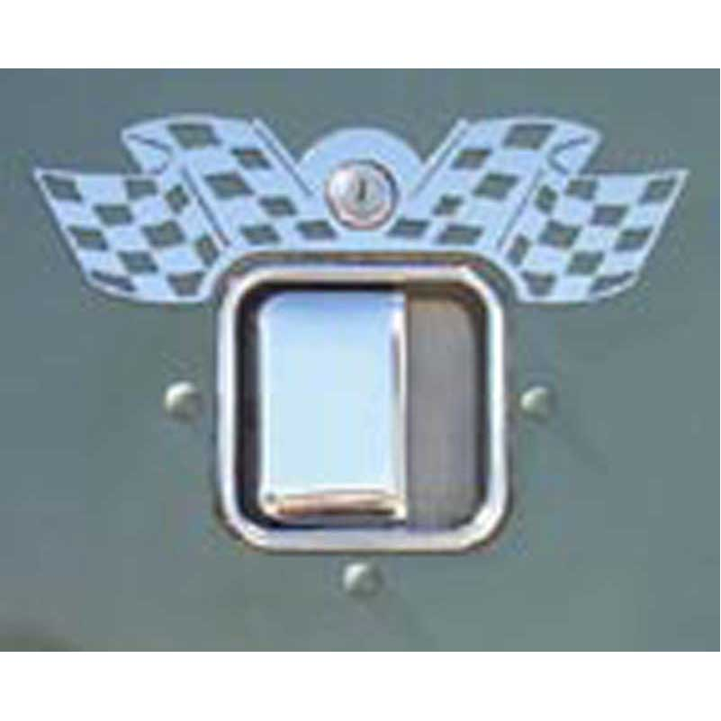 Peterbilt door latch trims big rig chrome shop semi truck chrome