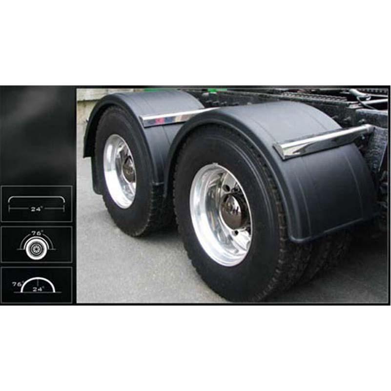Poly Fenders For Semi Trucks : Poly single fenders big rig chrome shop semi truck