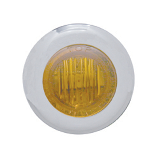 United Pacific 39932 3 Mini Clearance Marker with Bezel Amber Lens Led