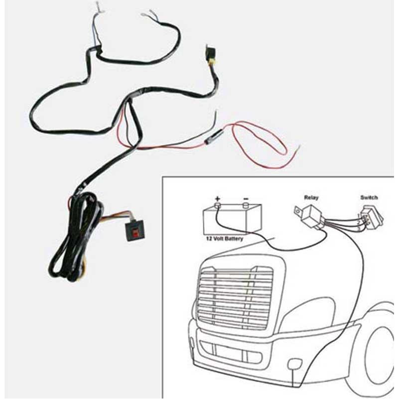 wiring and adaptors big rig chrome shop semi truck chrome shop add to cart up34266 fog lamp wiring harness kit
