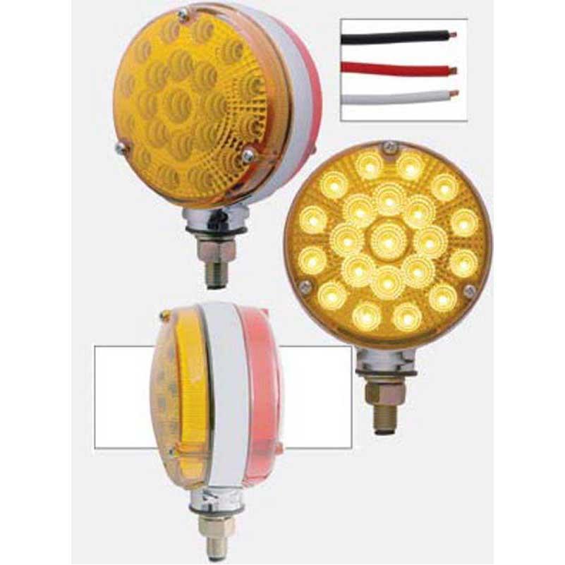 Amber//Amber Lens 42 Amber//Amber LED Double Face Turn Signal Light