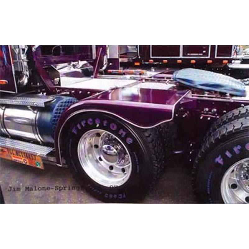 Big Truck Fiberglass Fenders : Fiberglass half or quarter fenders big rig chrome shop